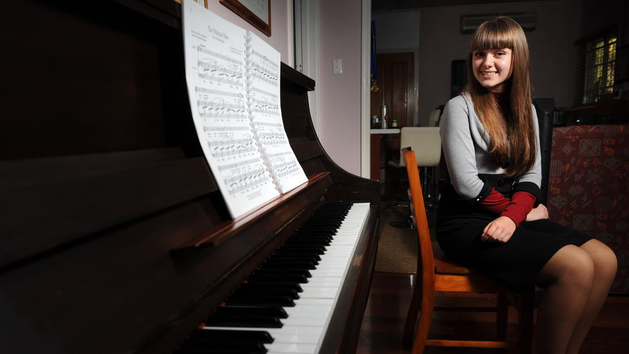 Yuliya Shkvarko, 15, of Wavell Heights is a soprano opera singer who was a junior champion at the Brisbane Eisteddfod.