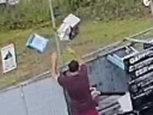 Man caught on CCTV dumping rubbish outside business