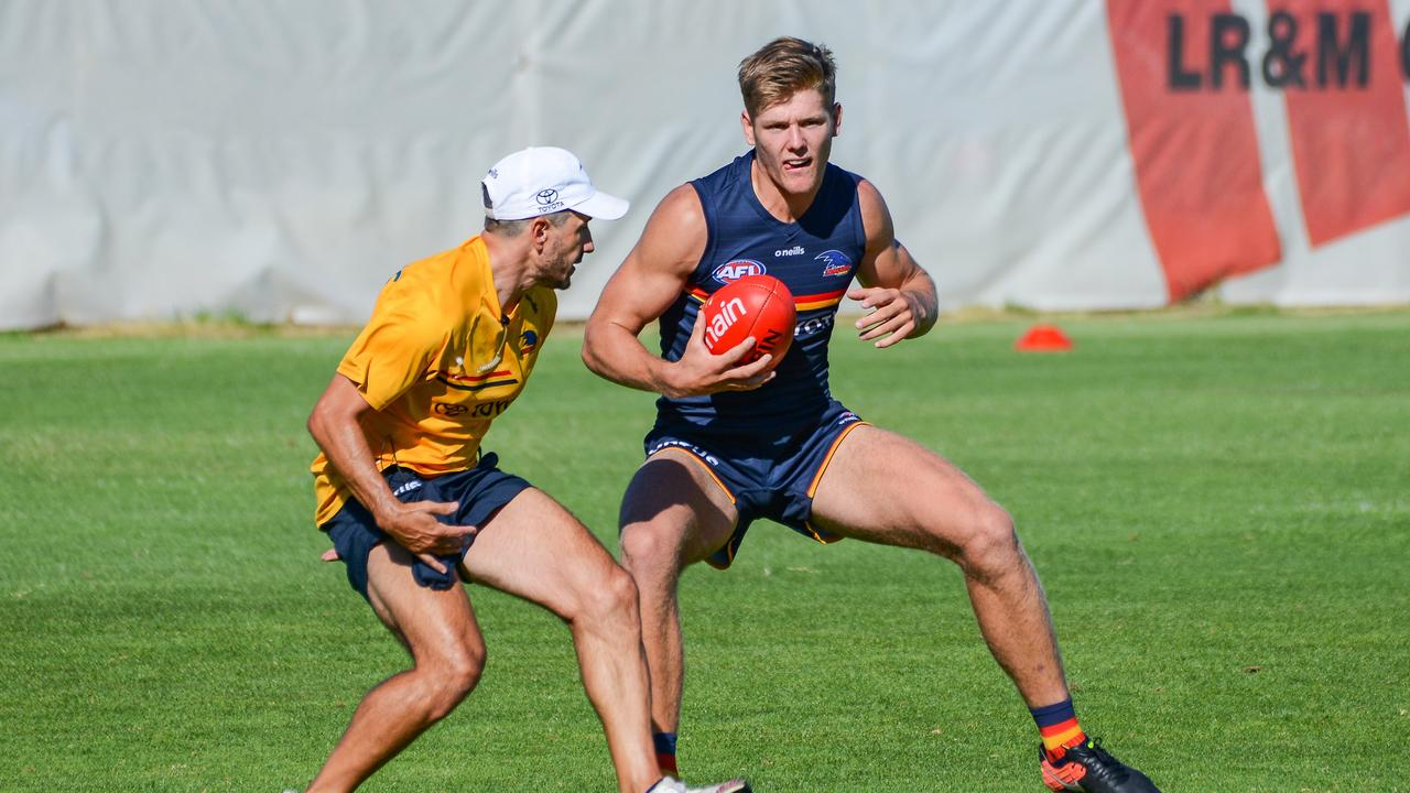 Defender Nick Murray will make his debut after less than three weeks on the Crows' list. Picture: Brenton Edwards