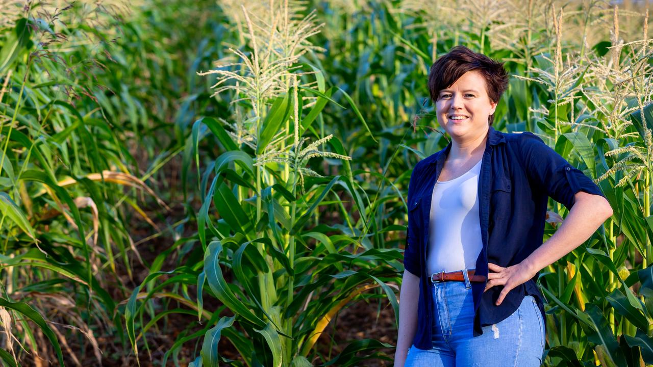 Sharla Watson of Farmer and Sun on her parents farm in Glastonbury loves promoting the Gympie region's fresh produce.