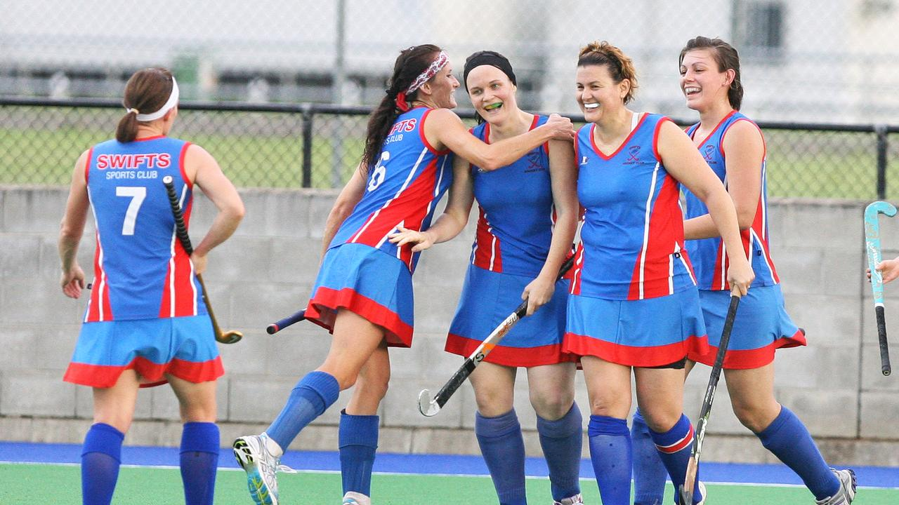 Swifts A-Grade players enjoy memorable success in the 2011 Ipswich hockey season. Picture: Rob Williams