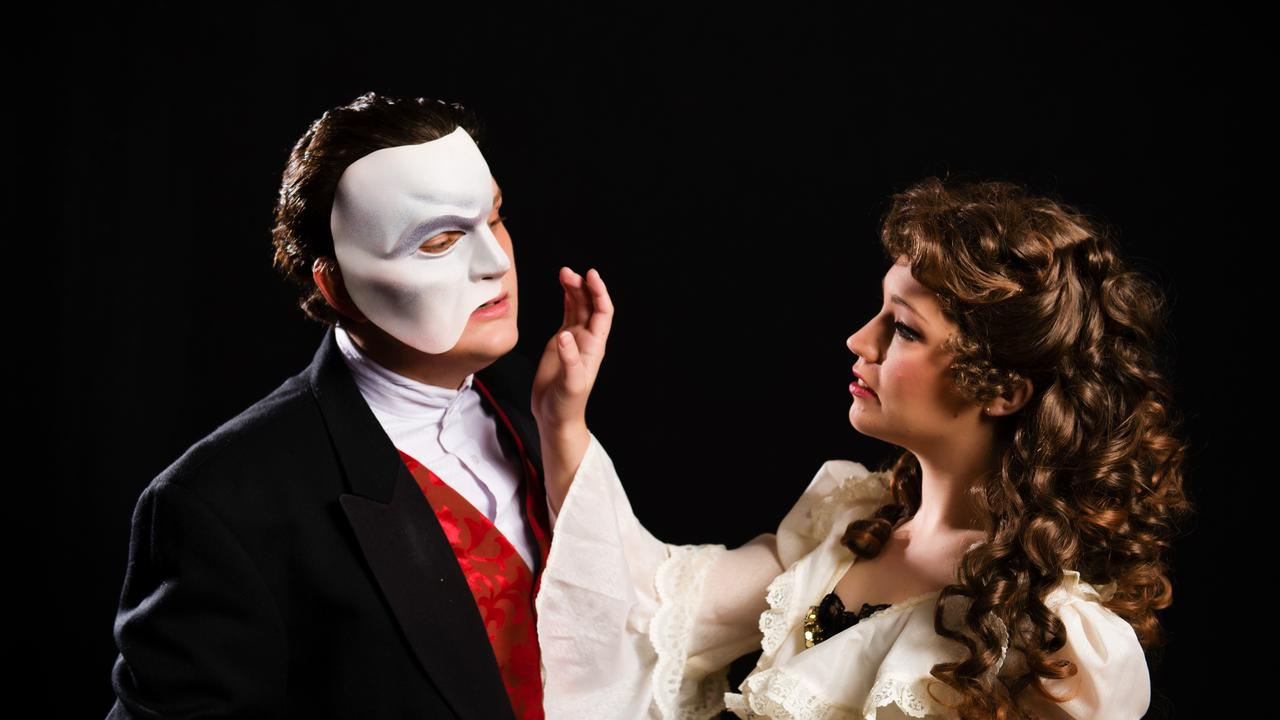 Robert Shearer and Sophie Salvesani from the IMTC's production of Phantom of the Opera.