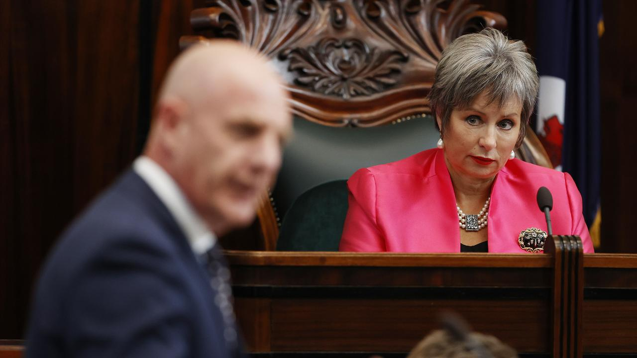 The Liberal Party in Tasmania were plunged into minority government when Speaker of the House Sue Hickey left the party. Picture: Zak Simmonds