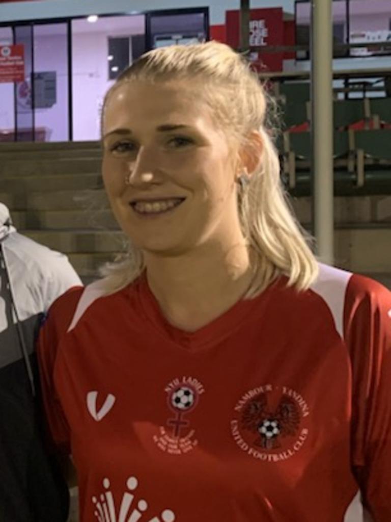 Nambour Yandina premier women's player Tayhla Weire (right)