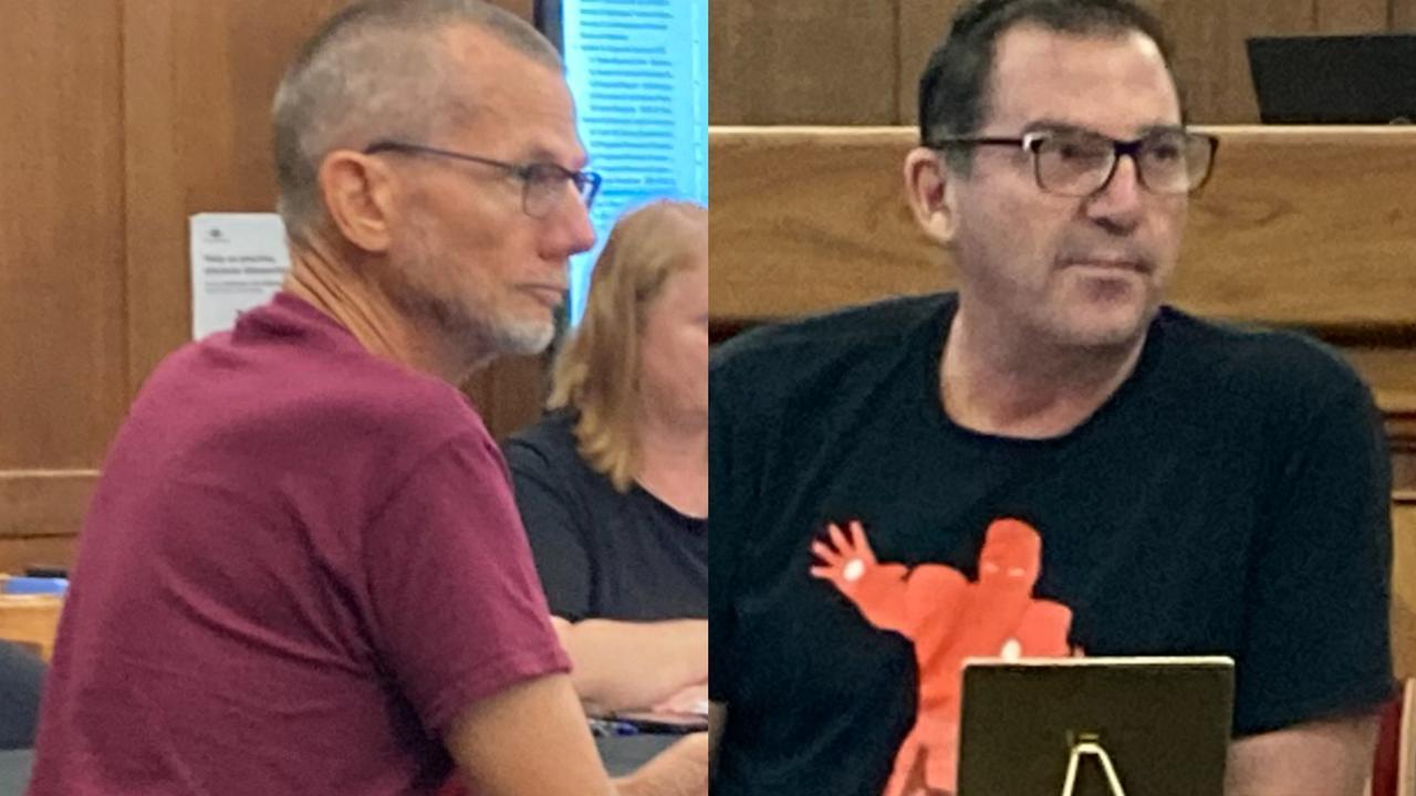 Gympie Regional councillors Dan Stewart and Bruce Devereaux
