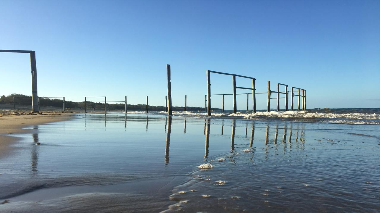 The Bucasia Beach swimming enclosure was removed by Mackay Regional Council.
