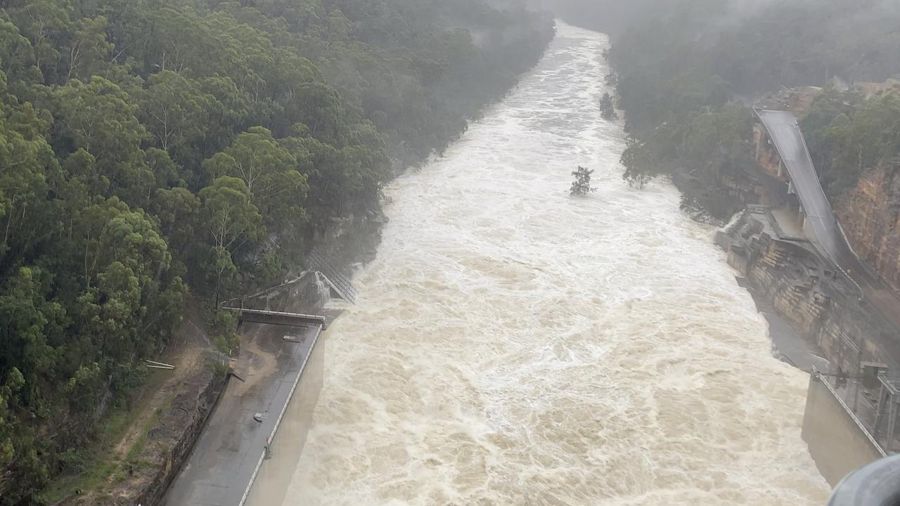 Warragamba spilt for days as the downpour continued. Picture: Water NSW.