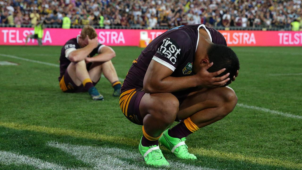 Milford was heartbroken after losing the 2015 NRL Grand Final. Pics Adam Head