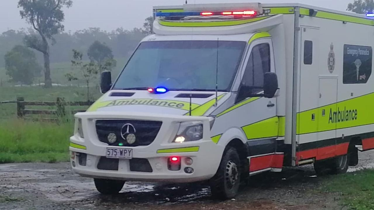 Paramedics are on scene after a pedestrian was hit by a car on Friday afternoon. File photo