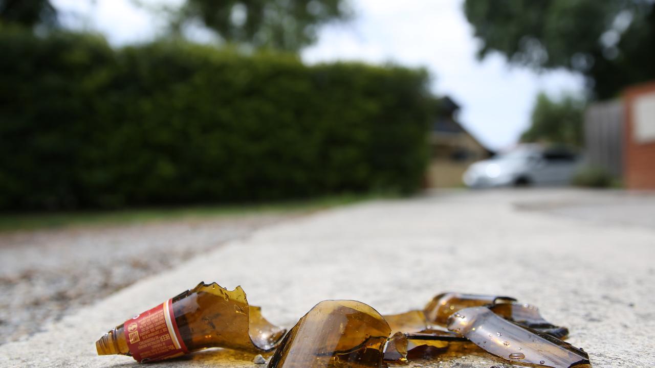 Generic set up. Smashed beer, alcohol, drunk. Picture: Brendan Francis