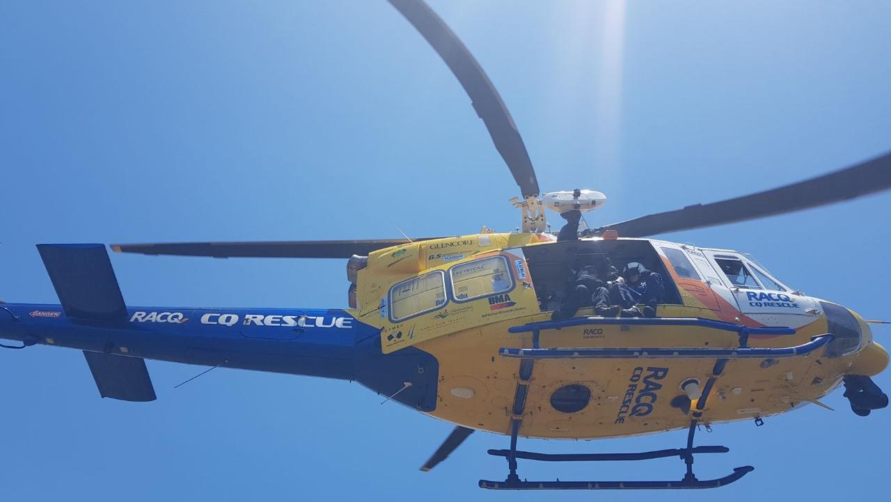 RACQ CQ Rescue helicopter. Picture: RACQ CQ Rescue