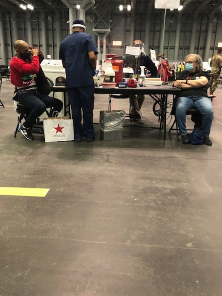 Around 8000 people a day are now being vaccinated at Javits Centre since the site opened 24 hours a day. Picture: Supplied