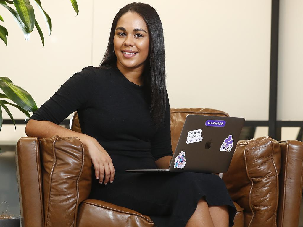 HealthMatch founder Manuri Gunawardena, 28, which helps patients identify clinical trials. Pictured in her offices today in Sydney. Picture: Sam Ruttyn