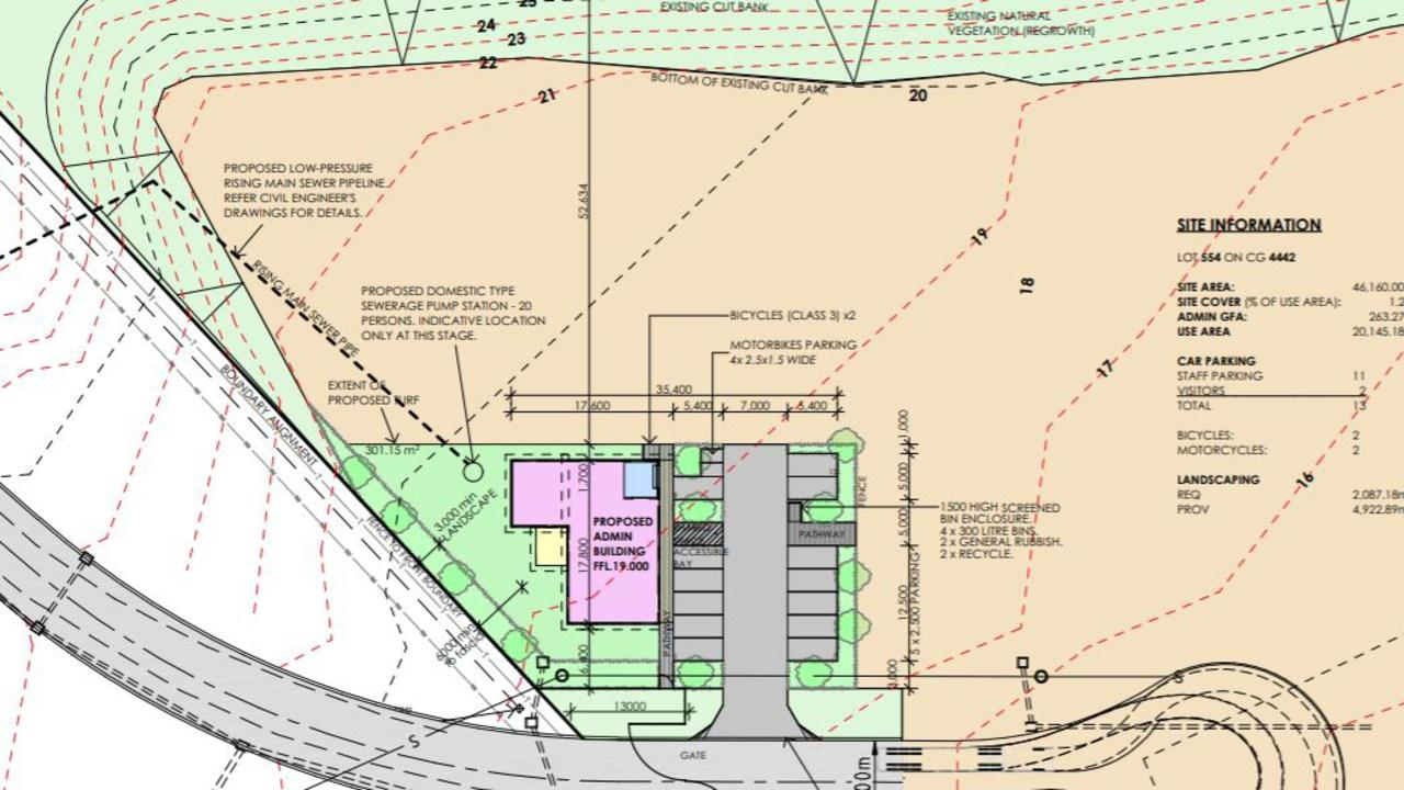A proposal has been submitted to the Sunshine Coast Council for a depot and base for Bebrok Excavations and Earthmoving to be built at Kulangoor.