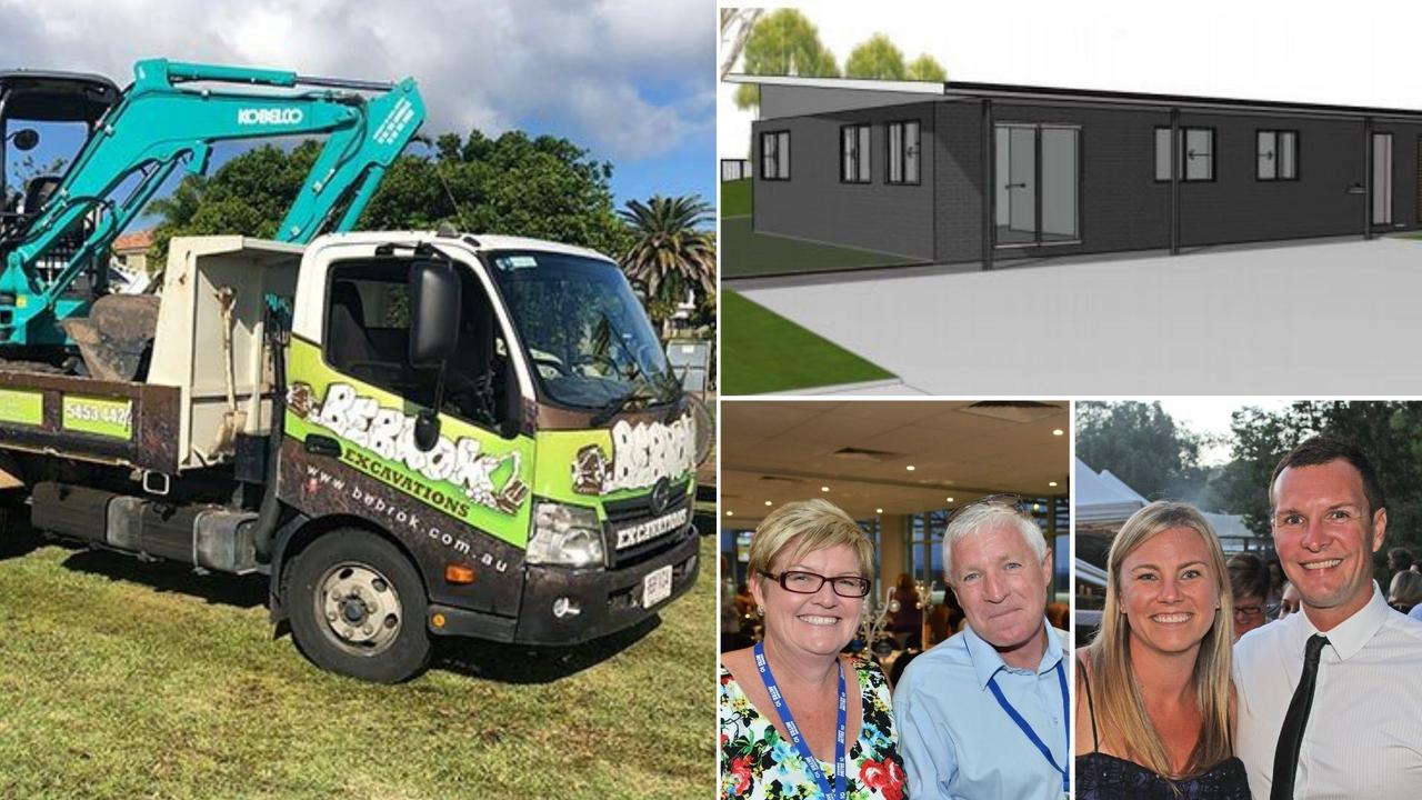 Bebrok Excavations and Earthmoving could starting a new depot at a Kulangoor site, owned by Darren and Karen Hennig (bottom left), and Michael and Leanne Bebbington (right).