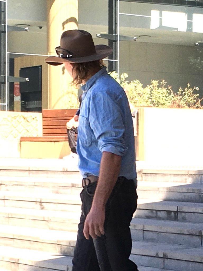 Dayle Gosley outside the Ipswich Courthouse.