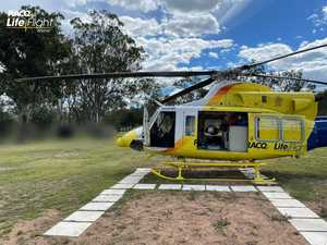 Man flown to hospital after motorbike crash in Boondooma