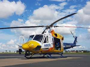Man flown to hospital following Benarkin motorbike crash