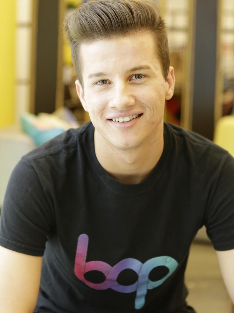 Teenage CEO whiz kid and entrepreneur Scott Millar, 18. Picture: AAP/Megan Slade