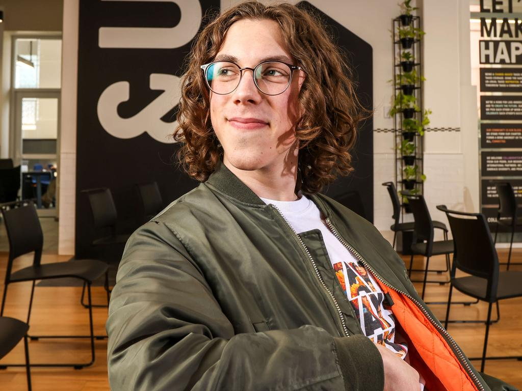 Young app developer Will Bishop, 18. Picture: Russell Millard