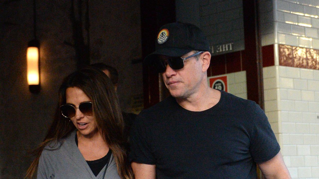 Matt Damon spotted earlier this monrth at The Paddington in Sydney. Photo Jeremy Piper