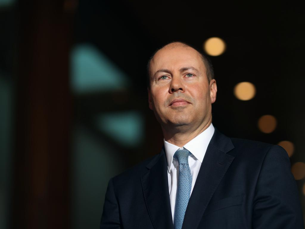 Treasurer Josh Frydenberg says the end of JobKeeper does not equal the end of government support. Picture: NCA NewsWire/Gary Ramage