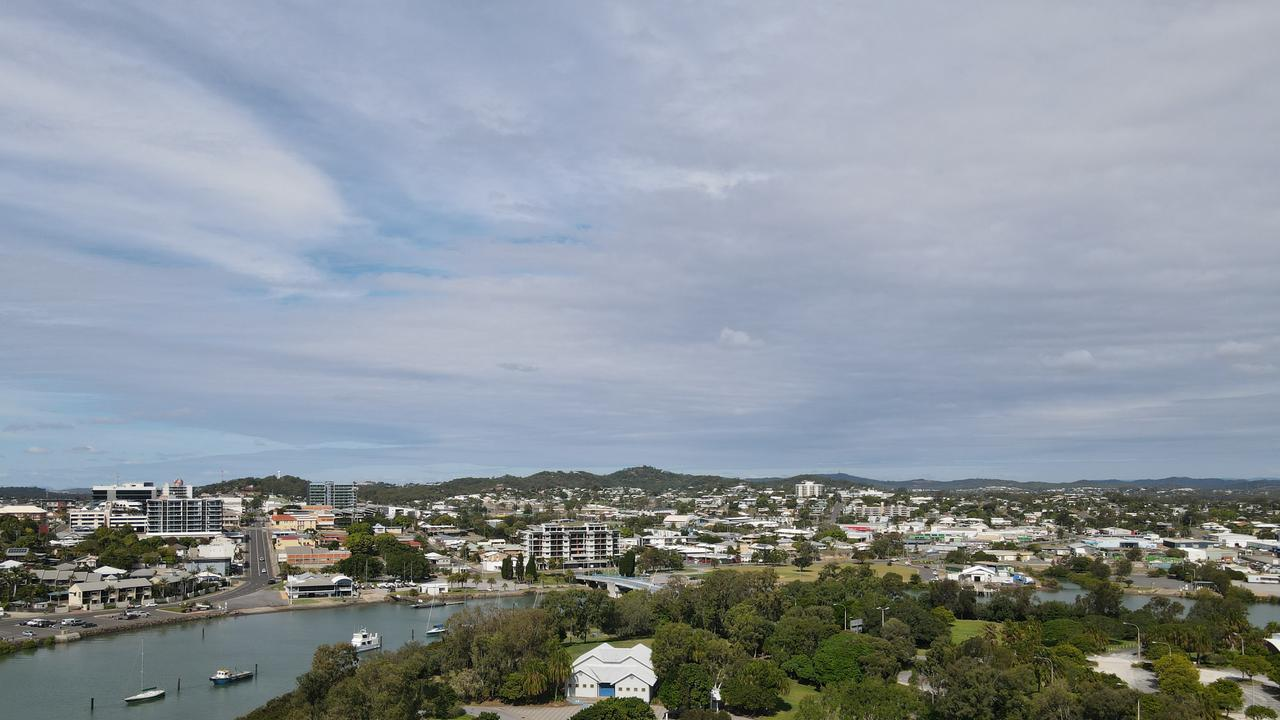 The Gladstone median house price growth was the highest in the state according to the September to December 2020 REIQ market report. Picture: Rodney Stevens DJI Mavic Air 2 drone