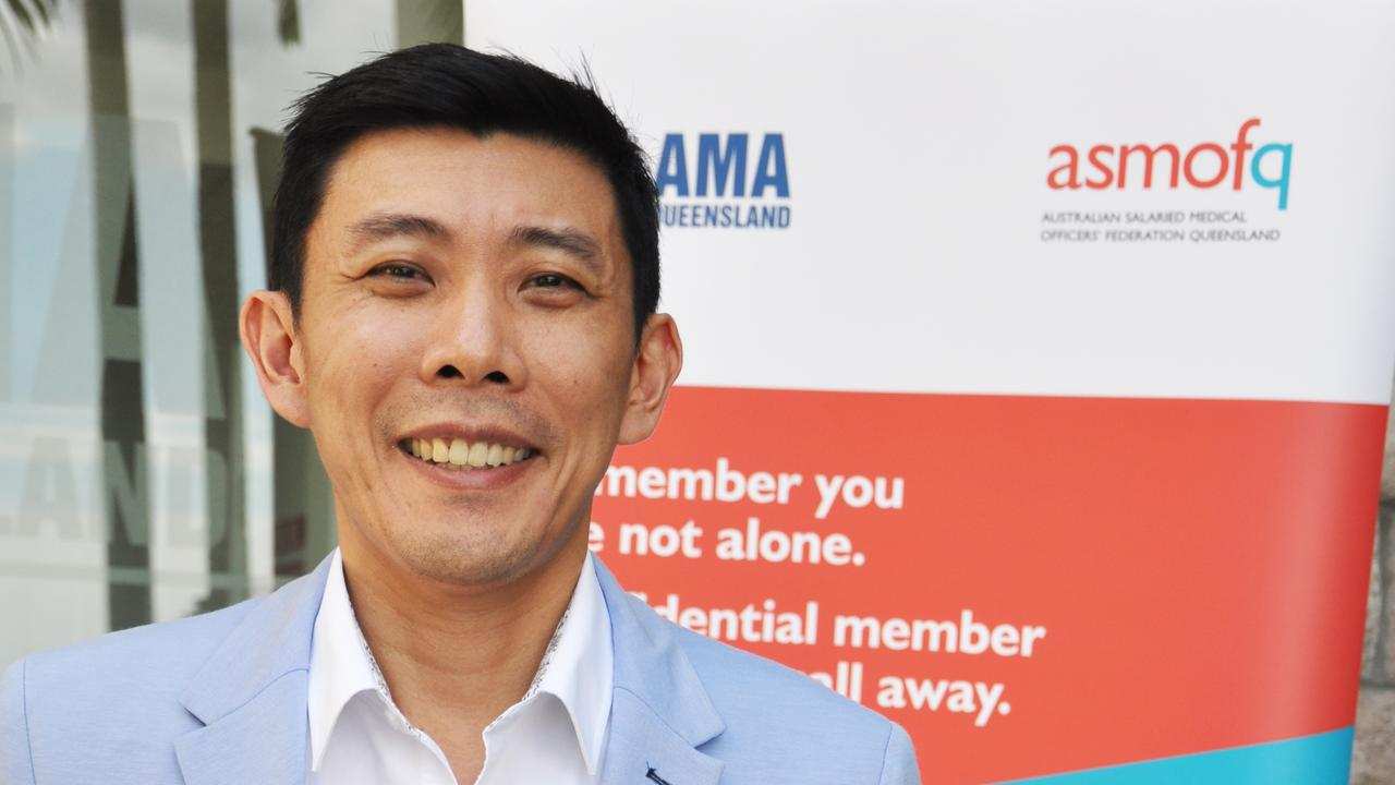 Anaesthetist Dr Hau Tan, the vice-president of the Australian Salaried Medical Officers' Federation Queensland. Photo: Supplied.