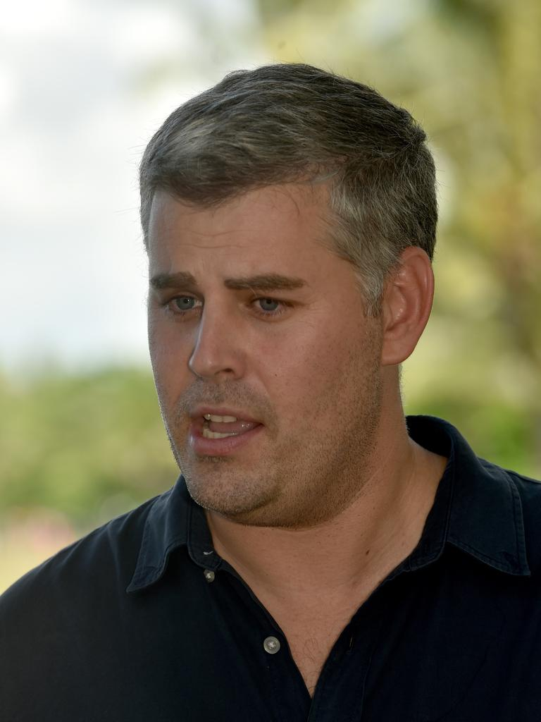 Police Minister Mark Ryan in Townsville on Friday. Picture: Evan Morgan
