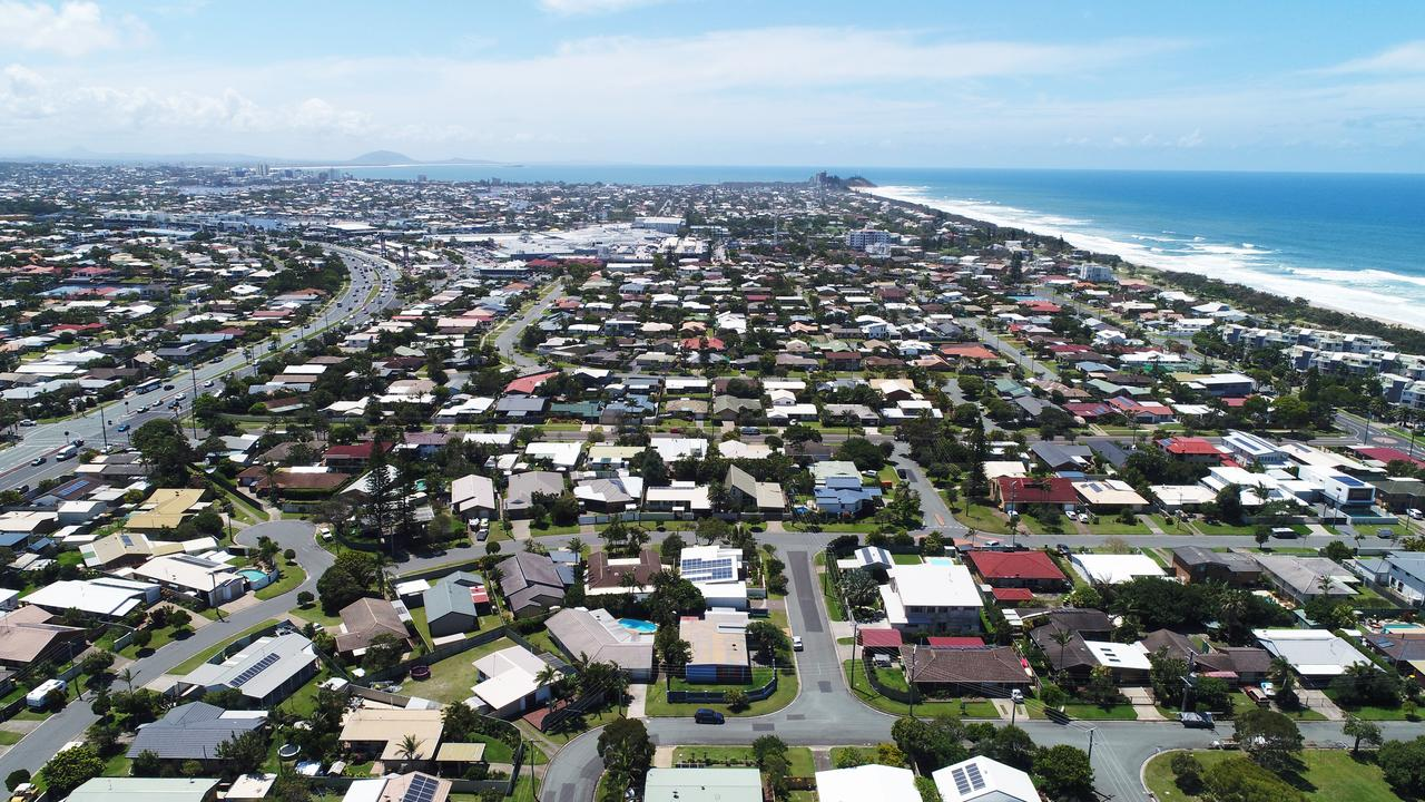 Aerial photo of Kawana Waters, Sunshine Coast.