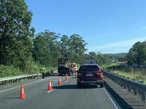 Ute crash cuts highway traffic to one lane