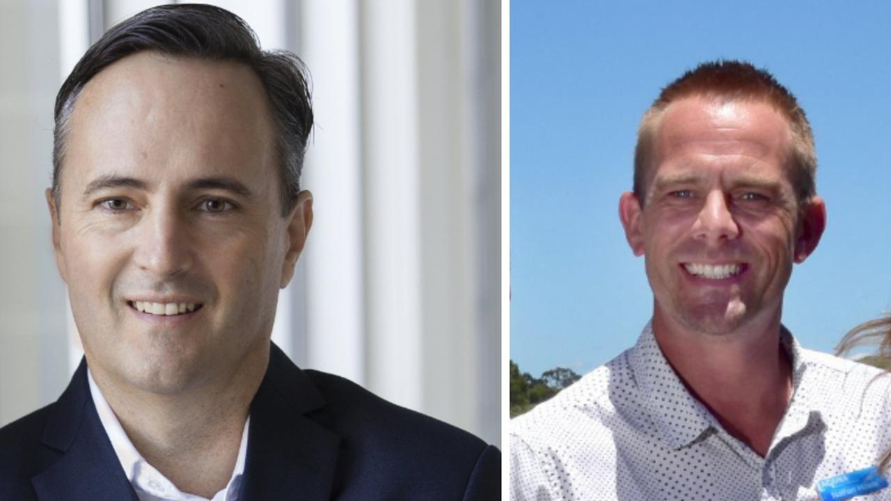 Danny Neylan (left) from Dowling and Neylan applied to the Supreme Court of Queensland for a search order of Nathan Howie's (right) Noosa Estate Agents office.