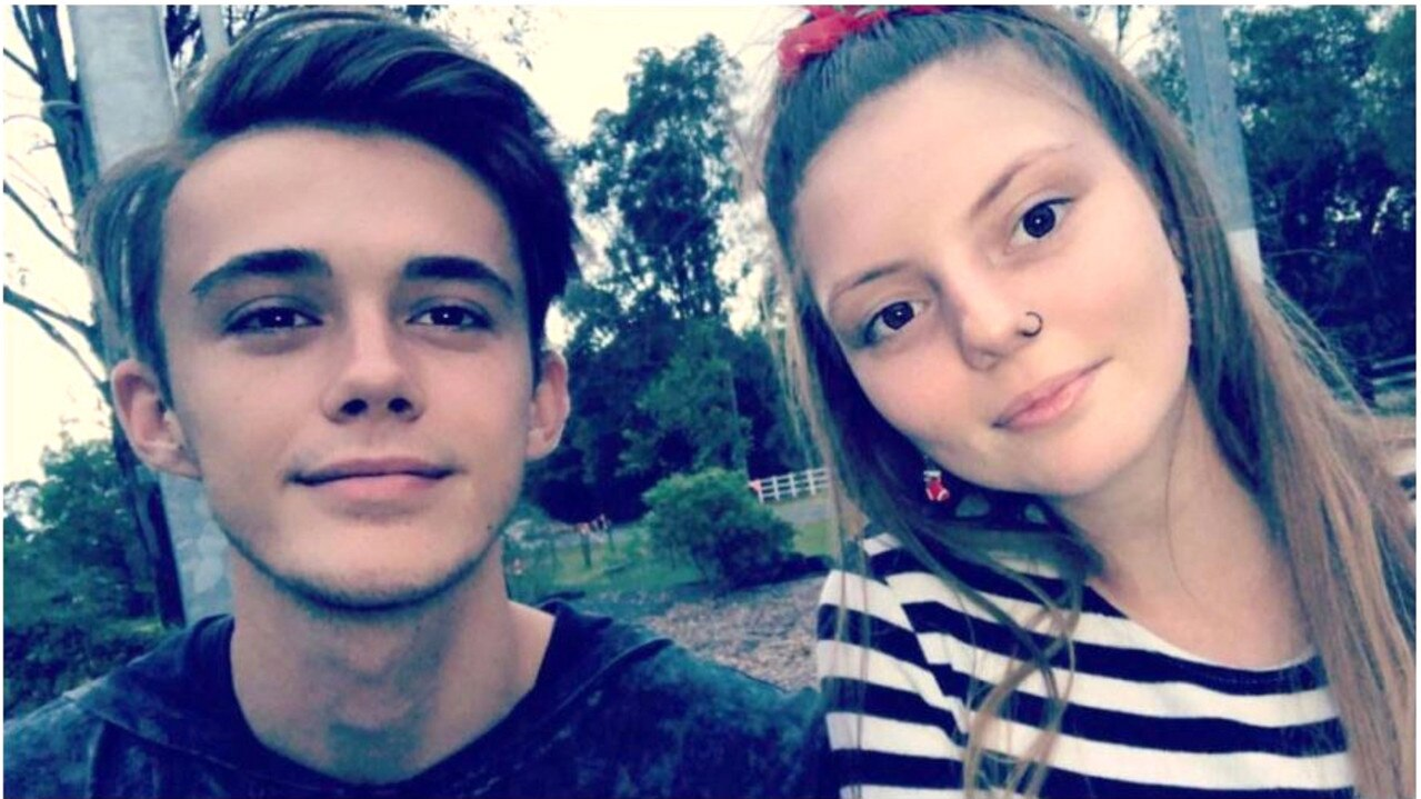 Samantha Meyers and her boyfriend Kyle Schroduer, who went missing after he was swept away in a rip off Coolum Beach on March 27. Picture: Social Media