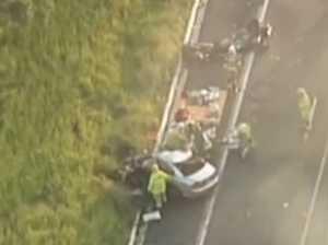 Man dies afer truck, car collide in fiery crash