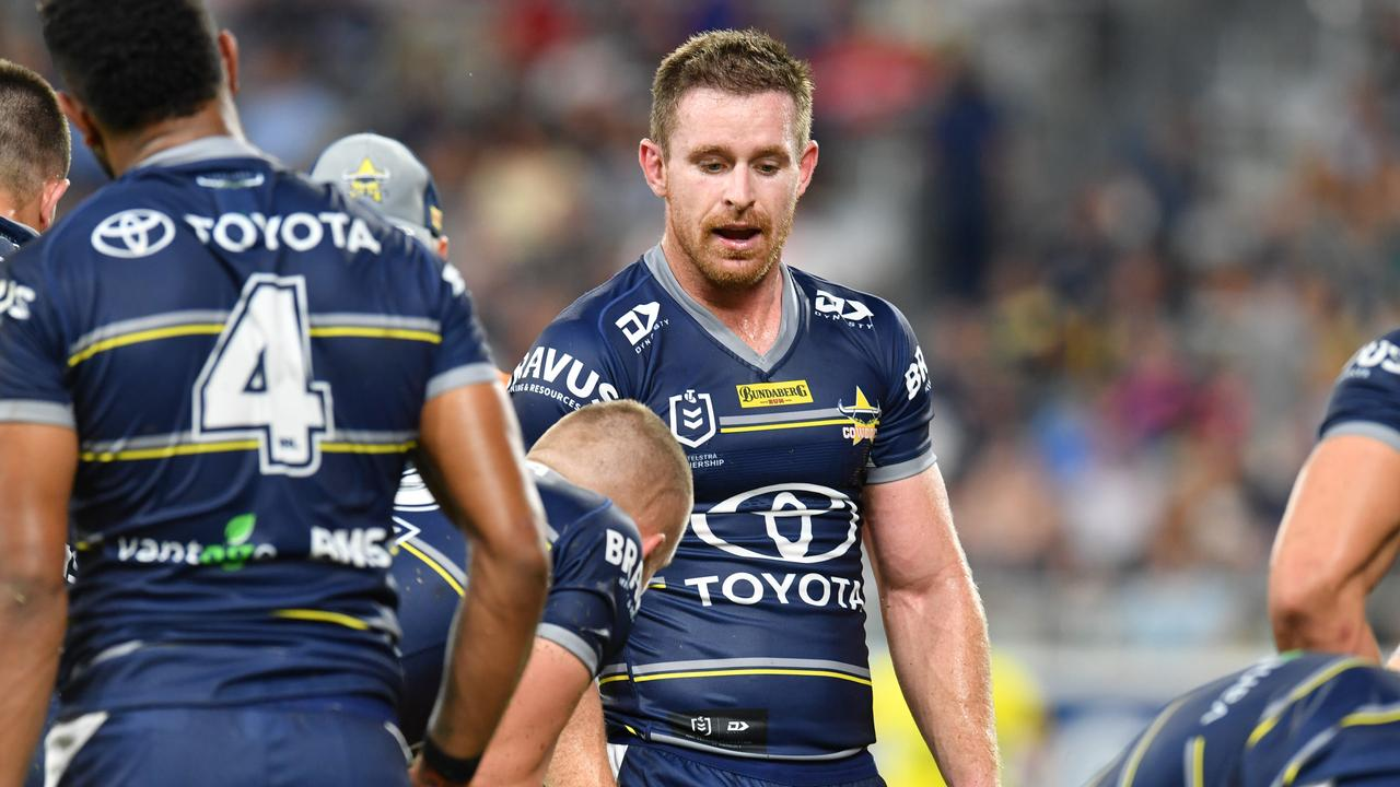 North Queensland Cowboys against St George Illawarra at Queensland Country Bank Stadium. Cowboys Michael Morgan. Picture: Evan Morgan