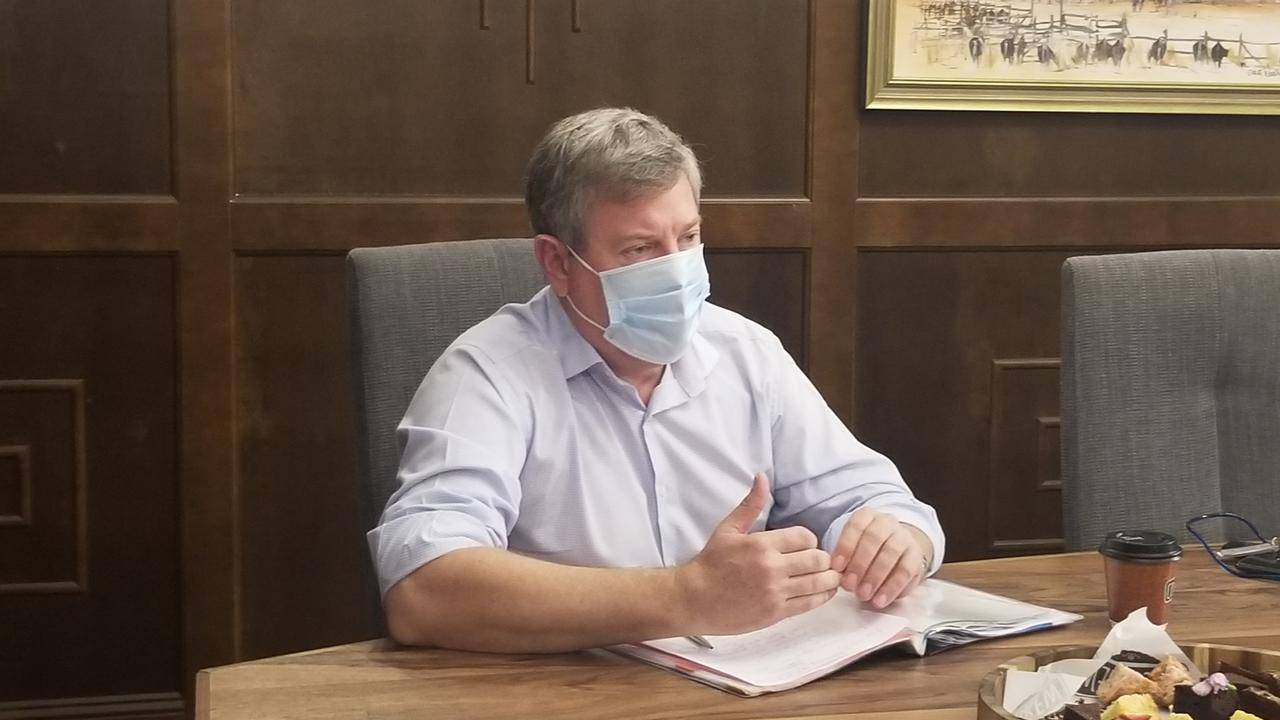 Shadow Attorney-General Tim Nicholls at CocoBrew on Monday.