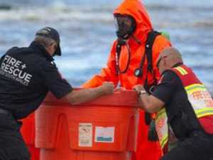 'Acid' containers spark beach emergency