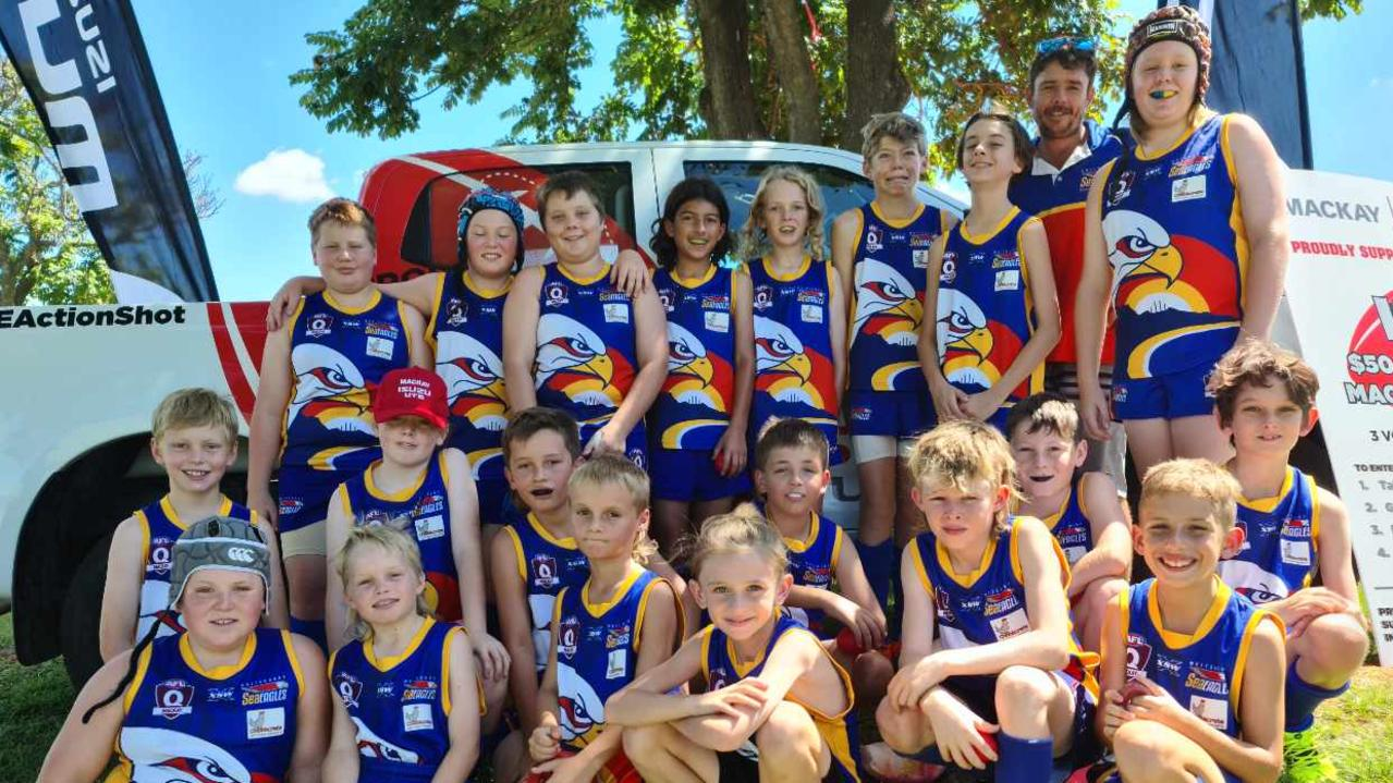 The Whitsunday Sea Eagles' Under-12 team. Photo: Whitsunday Sea Eagles