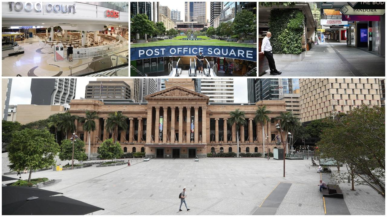 """An """"absolute ghost town"""" is how a coffee shop owner described Brisbane CBD on day one of a three-day lockdown."""