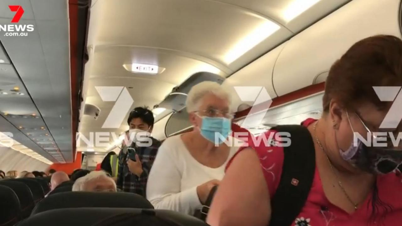 The pilot announced Brisbane's lockdown. Picture: 7 NEWS