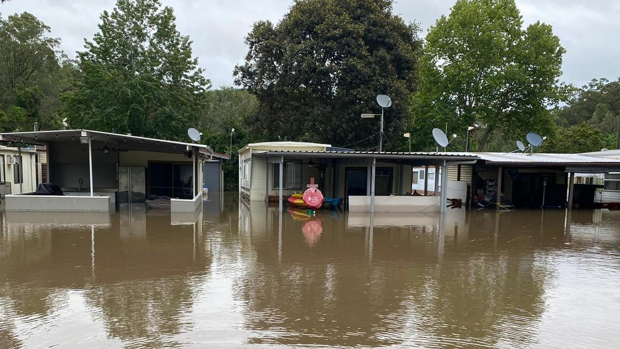 After: Hartley says 52 of the 64 caravans in Leetsvale were destroyed by the recent floods.