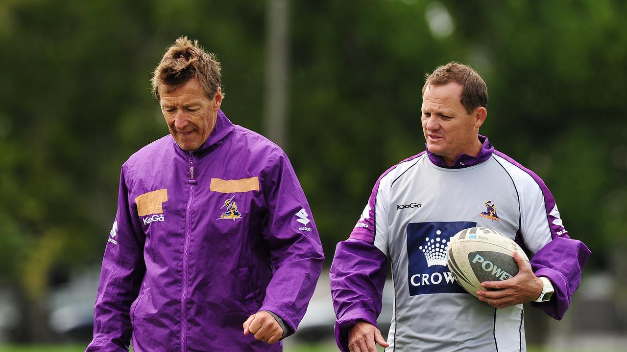 Broncos coach Kevin Walters (right) was a one-time assistant to Craig Bellamy at the Storm.