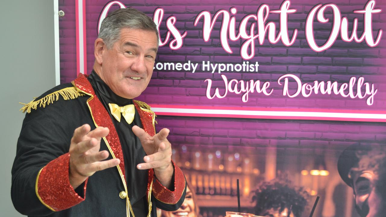 Comedy hypnotist Wayne Donnelly was one of the acts that the company used to promote. Picture: Supplied