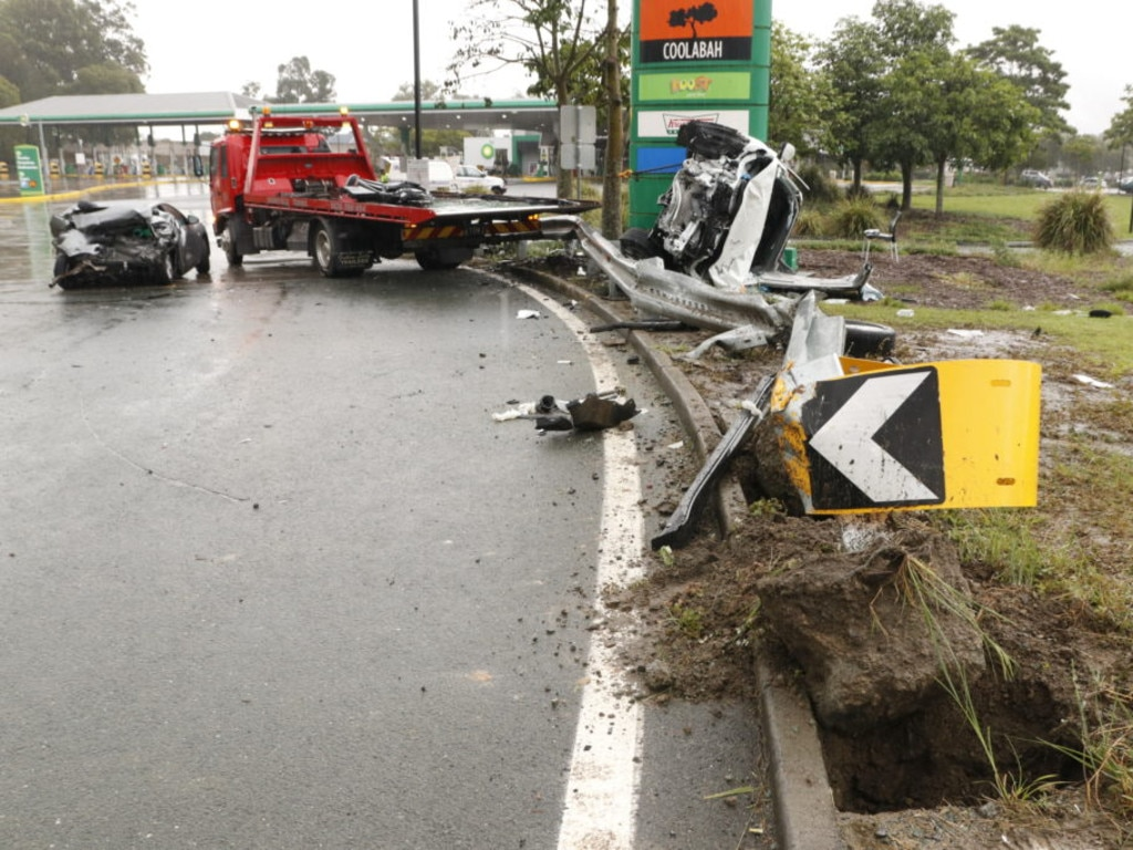 The scene of a horrific two car crash at Morayfield on March 17. Picture: Queensland Police Service
