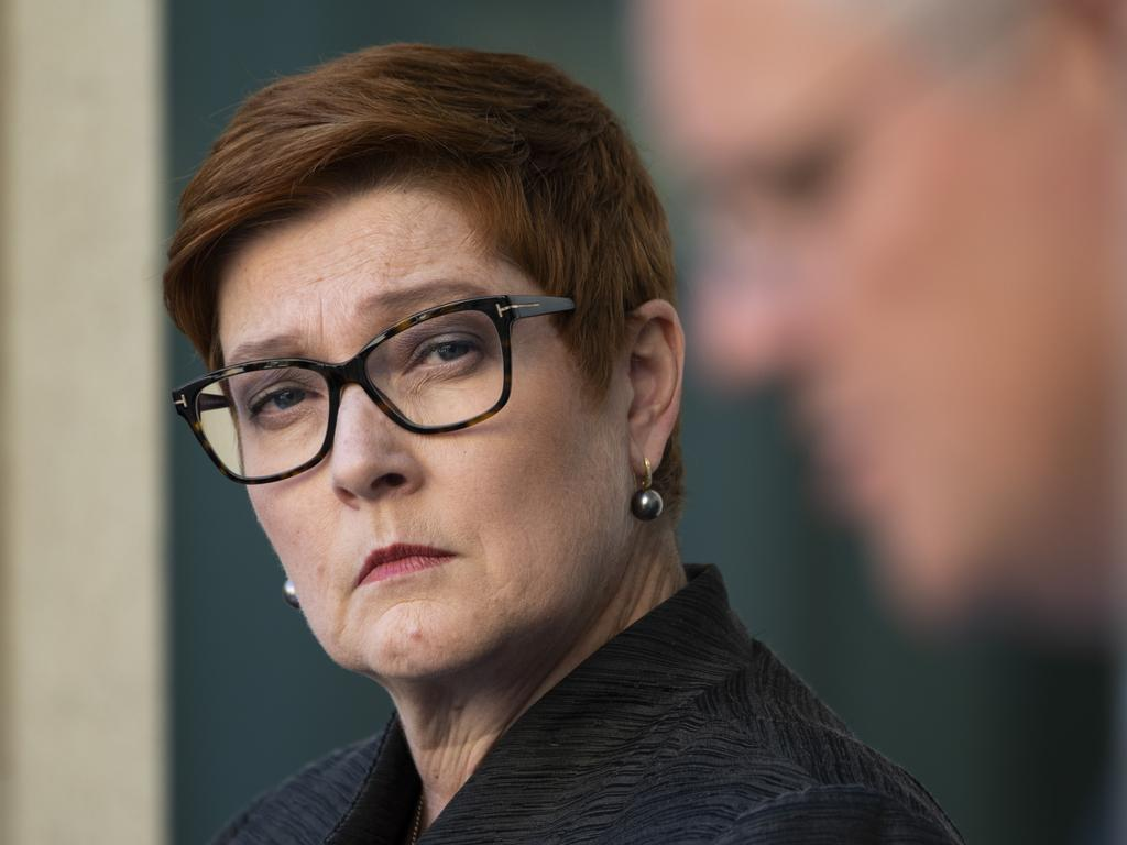Scott Morrison claimed Marise Payne would effectively be 'the Prime Minister for Women'. Picture: NCA NewsWire / Martin Ollman