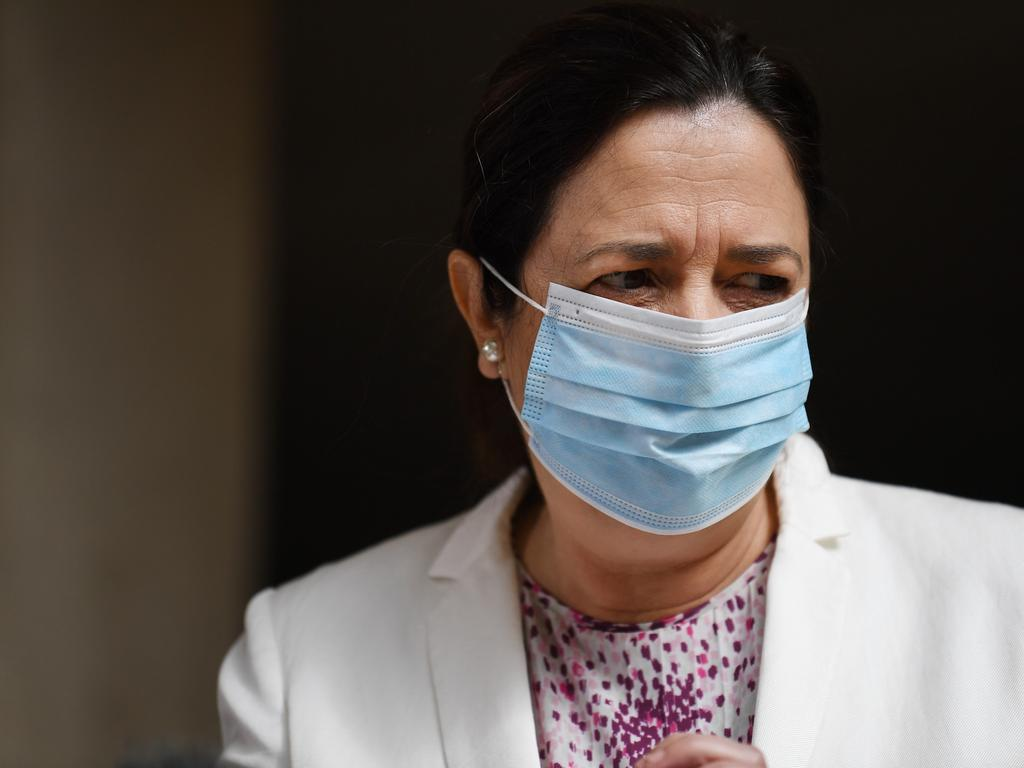 Queensland Premier Annastacia Palaszczuk has not ruled out the possibility of extending lockdown past 5pm on Thursday. Picture: NCA NewsWire / Dan Peled