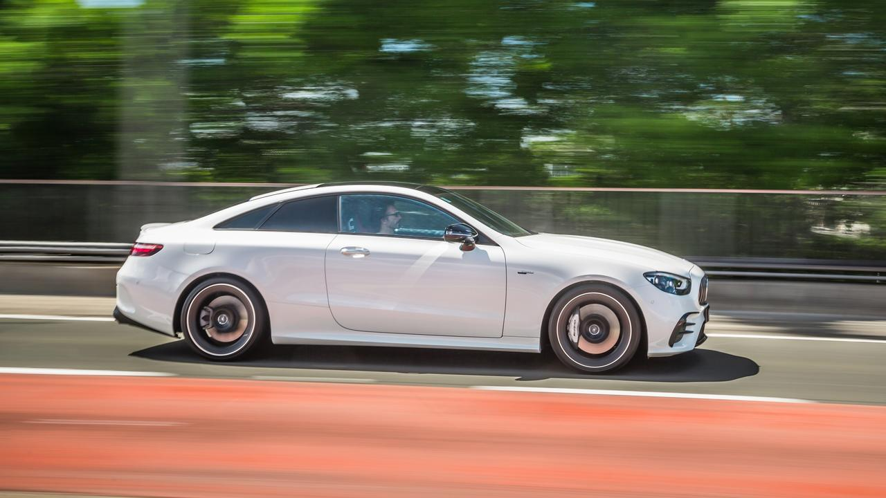 The E53 is propelled by a 3.0-litre six-cylinder engine boosted by mild hybrid power.