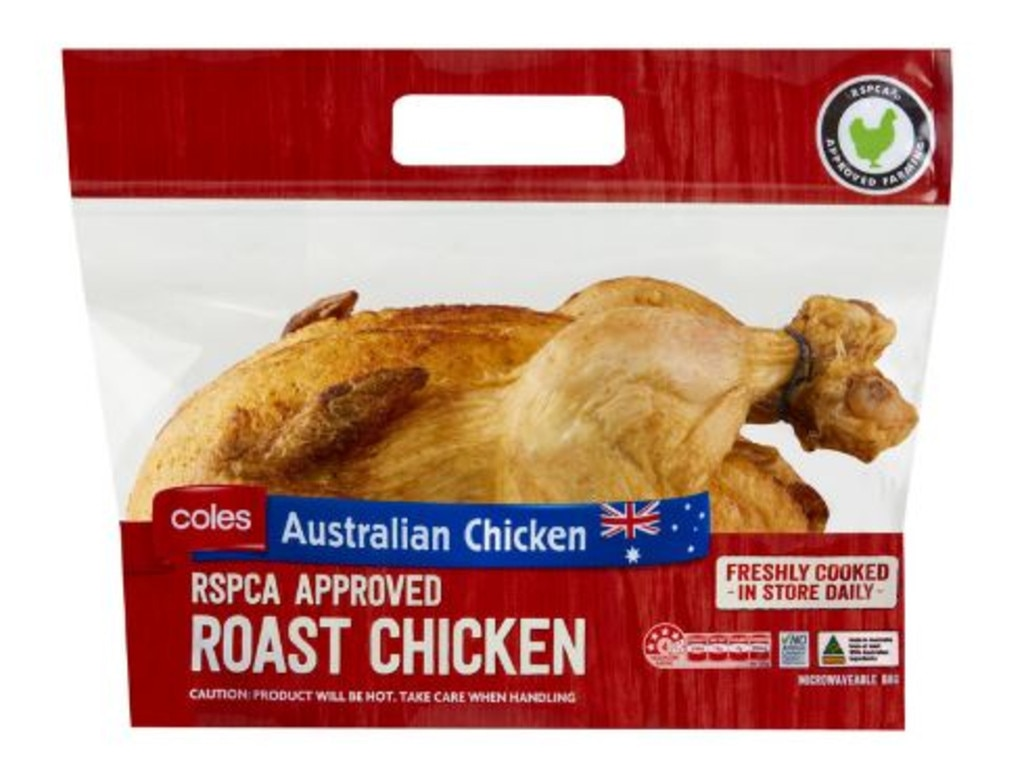 Coles responded saying its BBQ Chickens 'are best consumed within 24 hours'. Picture: Coles