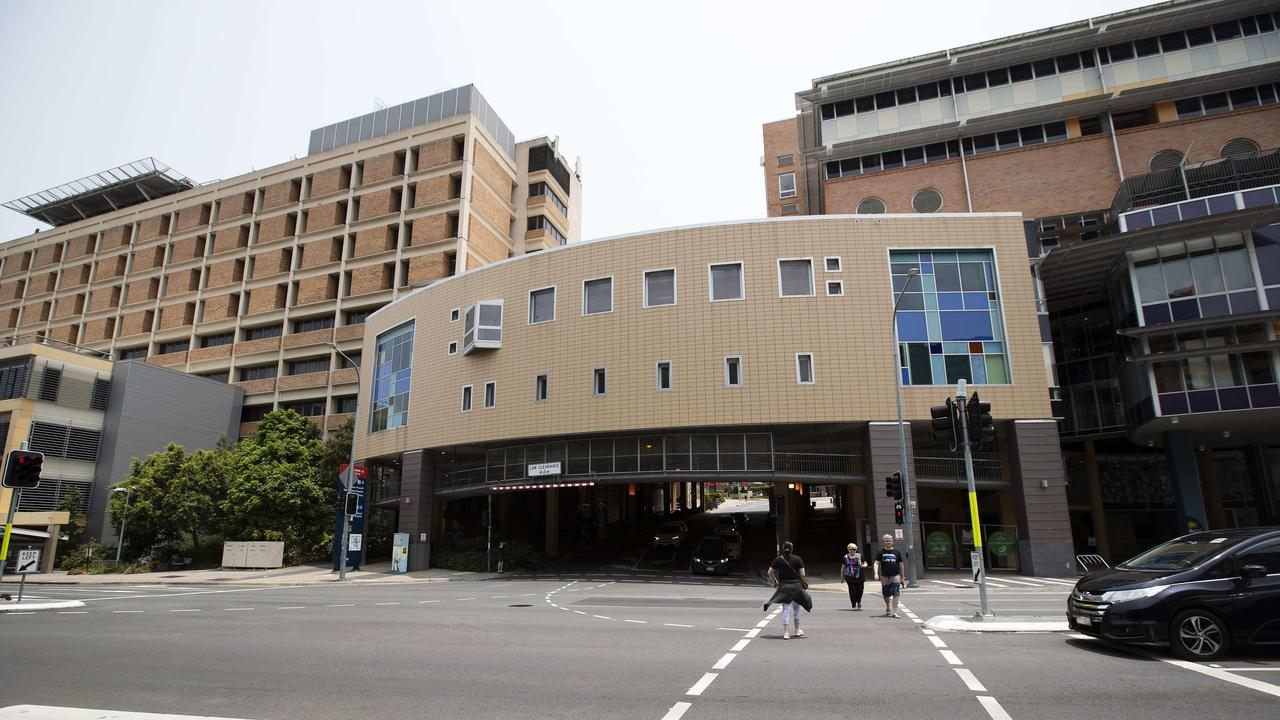 The Mater Hospital in South Brisbane, which is home to Mater Mothers' Hospital. (AAP Image/Attila Csaszar)
