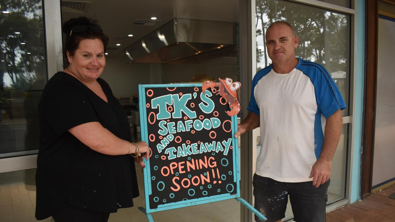 Kristie and Toby Jack outside their new business, TK Seafood in Torquay. Photo: Stuart Fast